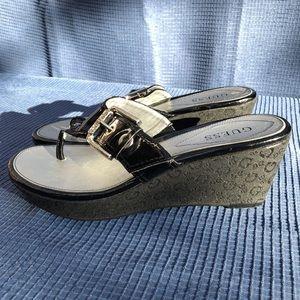 Guess platform thong sandals